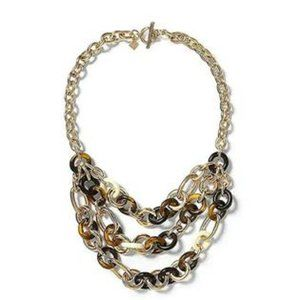 Banana Republic Horsebit Bib Tier Toggle Necklace